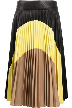 Stella McCartney Colour-block pleated midi-skirt