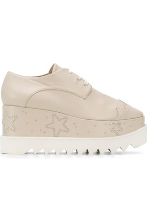 Stella McCartney Star appliqué platform shoes - Neutrals