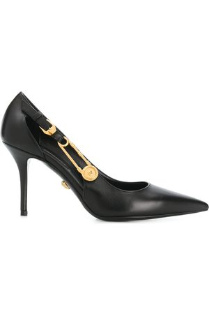 VERSACE Women Heels - Safety-pin pointed leather pumps