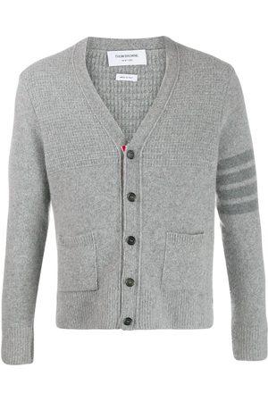 Thom Browne Overwashed v-neck cardigan - Grey