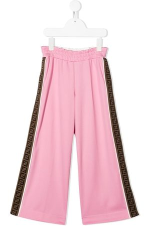 Fendi FF trim trousers