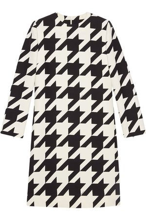 Gucci Women Printed Dresses - Houndstooth-print dress