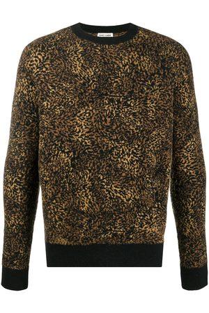 Saint Laurent Men Sweaters - Leopard jacquard jumper