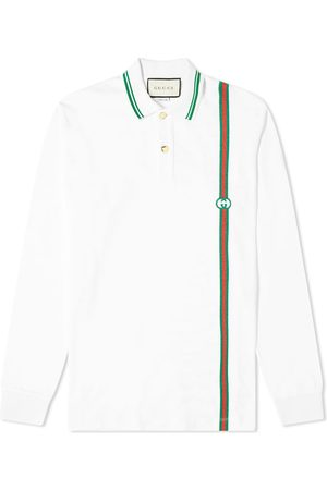 Gucci Long Sleeve Stripe Jersey Polo