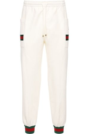 Gucci Gg Patch & Web Cotton Track Pants