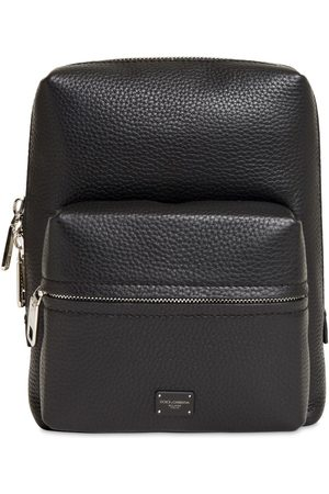 Dolce & Gabbana Logo Label Leather Backpack