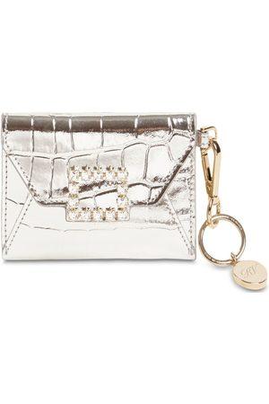 Roger Vivier Trés Vivier Leather Wallet W/ Key Ring