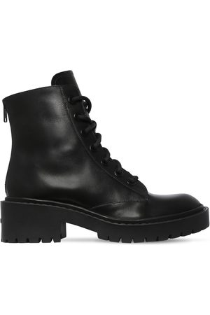 Kenzo Women Lace-up Boots - 50mm Pike Lace-up Leather Combat Boots