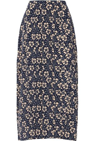 RIXO London Women Printed Skirts - Georgia Printed Silk Midi Skirt