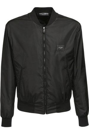 Dolce & Gabbana Dg Label Nylon Casual Jacket