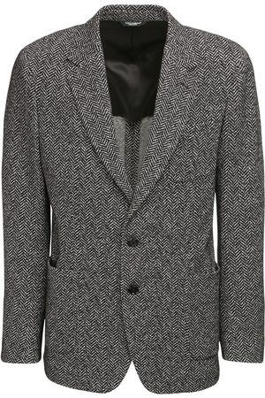Dolce & Gabbana Cotton & Wool Chevron Jersey Jacket