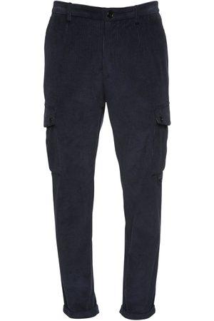 Dolce & Gabbana 17cm Cotton Velvet Cargo Pants