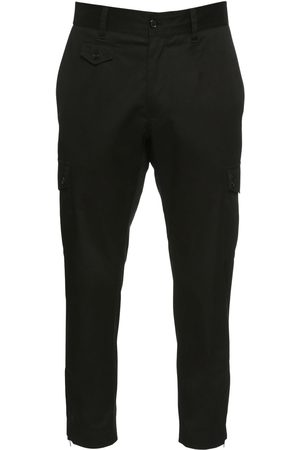 Dolce & Gabbana 16cm Stretch Cotton Gabardine Pants