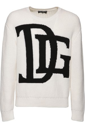 Dolce & Gabbana Dg Intarsia Wool Knit Sweater
