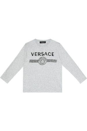 VERSACE Logo cotton-jersey T-shirt