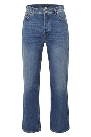 VALENTINO Men Straight - Garavani DENIM WITH INTARSIA LOGO ON THÉ BACK POCKET