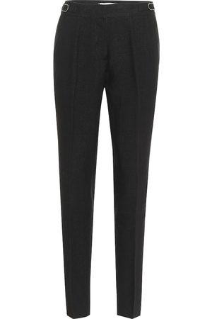 GABRIELA HEARST Delon high-rise linen straight pants