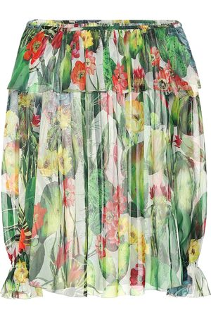 Dolce & Gabbana Exclusive to Mytheresa – Printed chiffon off-shoulder blouse