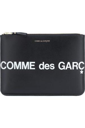 Comme des Garçons Huge Logo Large leather pouch
