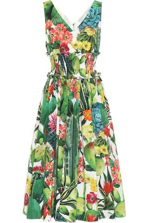 Dolce & Gabbana Exclusive to Mytheresa – Printed cotton-poplin midi dress