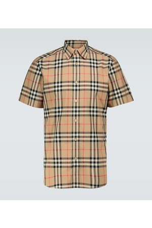 Burberry Caxton checked short-sleeved shirt