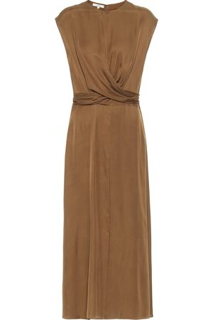 Vince Silk-blend midi dress