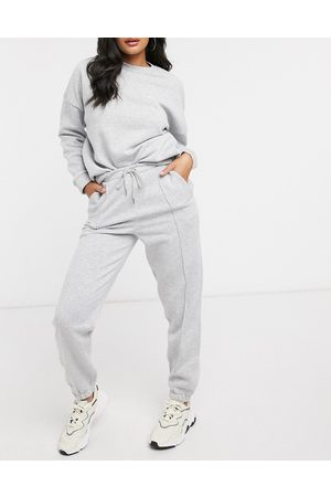 ASOS Tracksuit oversized sweat / jogger with be happy slogan in marl
