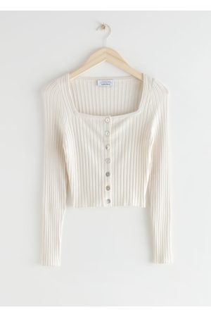 & OTHER STORIES Ribbed Button Up Cardigan