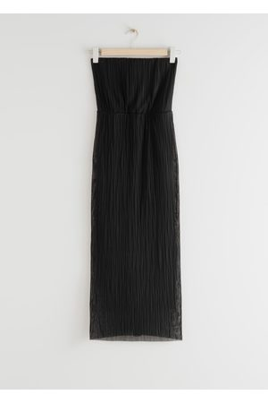 & OTHER STORIES Strapless Fitted Midi Dress
