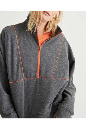 Richer Poorer Half Zip Mock Neck Sweatshirt