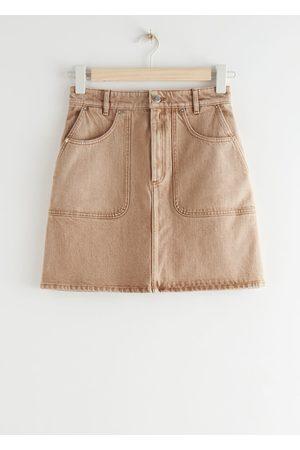 & OTHER STORIES Women Mini Skirts - Denim A-Line Mini Skirt