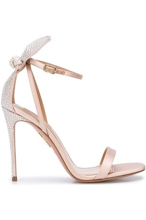 Aquazzura Bow Tie crystal embellished 105mm sandals