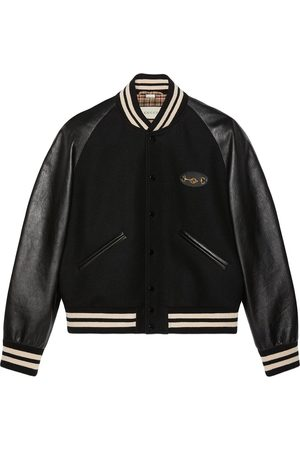 Gucci Interlocking G Horsebit panelled bomber jacket