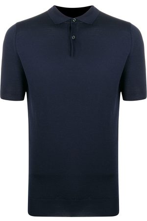 JOHN SMEDLEY Fine knitted polo shirt