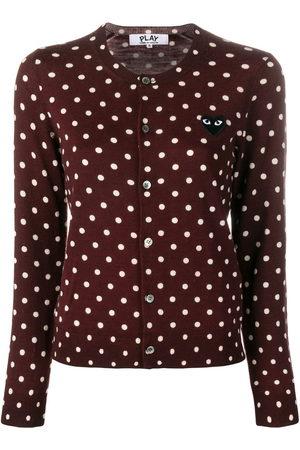 Comme des Garçons Women Cardigans - Heart patch polka dot cardigan