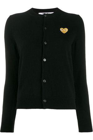 Comme des Garçons Women Cardigans - Heart patch slim-fit cardigan