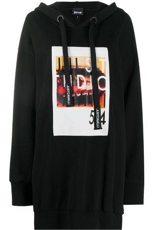 Roberto Cavalli Graphic-print oversized hoodie