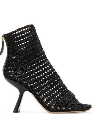 Nicholas Kirkwood Alba macramé ankle boots