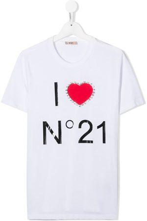 Nº21 TEEN logo print T-shirt