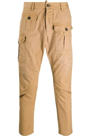 Dsquared2 Tapered cargo trousers - Neutrals