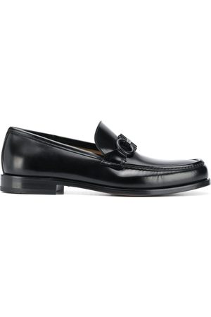 Salvatore Ferragamo Gancini buckle leather loafers