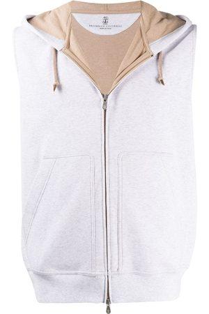 Brunello Cucinelli Hooded zip-up gilet - Grey