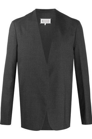 Maison Margiela Collarless open front blazer - Grey