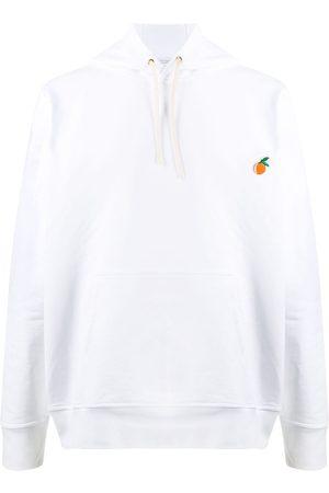 Casablanca Orange-patch hoodie