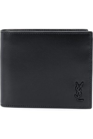 Saint Laurent Men Wallets - Logo plaque bi-fold wallet