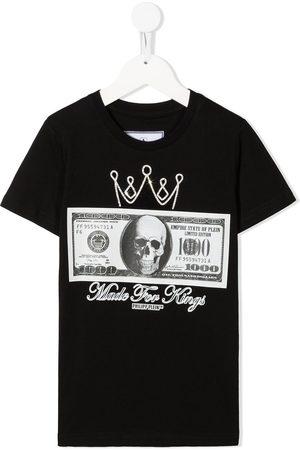 Philipp Plein Boys T-shirts - Dollar print T-shirt