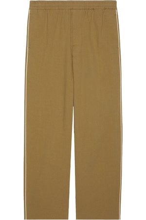 Gucci Men Straight Leg Pants - Logo-print straight-leg trousers