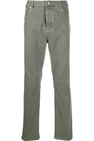 Brunello Cucinelli High rise slim-fit jeans