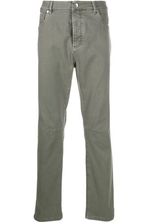 Brunello Cucinelli Men High Waisted - High rise slim-fit jeans