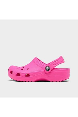 Crocs Girls' Little Kids' Classic Glitter Clogs Size 3.0